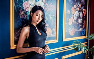 Desktop hintergrundbilder Asiaten Kleid Hand junge frau