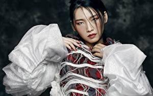 Hintergrundbilder Asiatische Blick Brünette Hand