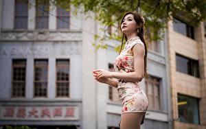 Bilder Asiatisches Blick Kleid