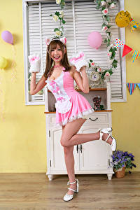 Images Asiatic Smile Pose Frock Legs Girls