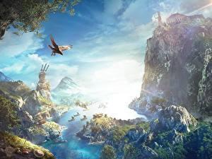 Hintergrundbilder Assassin's Creed Assassin's Creed Odyssey Felsen Bucht