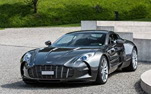 Fotos Aston Martin Grau Super ONE-77 automobil