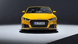 Hintergrundbilder Audi Vorne Gelb Roadster 2018 TTS