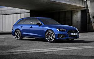 Bilder Audi Blau Metallisch A4 Avant S line competition plus, (Worldwide), (B9), 2021 automobil