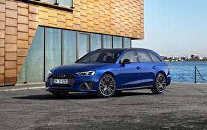 Fotos Audi Blau Metallisch A4 Avant S line competition plus, (Worldwide), (B9), 2021 auto