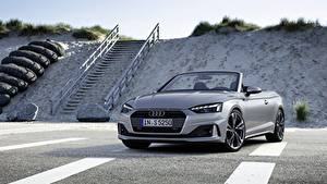 Hintergrundbilder Audi Grau Metallisch Roadster A5, 2019 auto