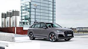 桌面壁纸,,奥迪,灰色,金屬漆,Q7 competition plus, (Worldwide), (4M), 2021,汽车