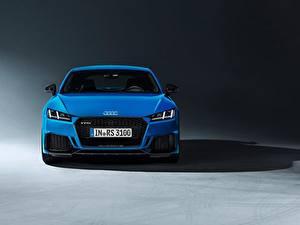 Hintergrundbilder Audi Vorne Blau TT RS, 2020 Autos