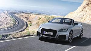Hintergrundbilder Audi Silber Farbe Roadster TT RS 2020