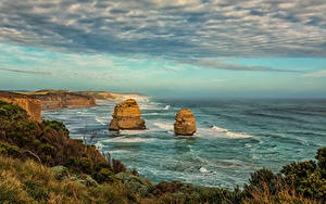 Papel de Parede Desktop Austrália Costa Penhasco Nuvem Princetown Naturaleza