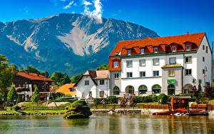 Bilder Österreich Küste Gebäude Berg Bootssteg Puchberg am Schneeberg Städte
