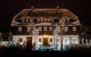 Hintergrundbilder Österreich Haus Winter Eigenheim Design Nacht Schnee  Städte