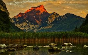 Fotos Österreich See Steine Gebirge Landschaftsfotografie Felsen Leopold Steinersee, Styria Natur