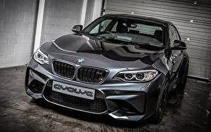 桌面壁纸,,BMW,灰色,金屬漆,轎跑車,2-Series F87,汽车