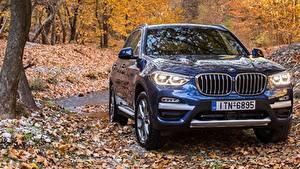 Bilder BMW Vorne Blau 2017 xLine X3 xDrive20d automobil