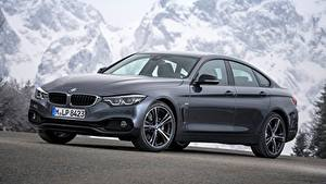 Fotos BMW Grau Coupe 4-series, Gran Coupe, Sport Line, 2017 automobil