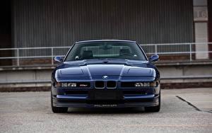 Bureaubladachtergronden BMW Vooraanzicht Blauw kleur Alpina 8-series B12 5.7 automobiel