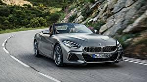 Hintergrundbilder BMW Bewegung Roadster Grau M40i Z4 2019 G29
