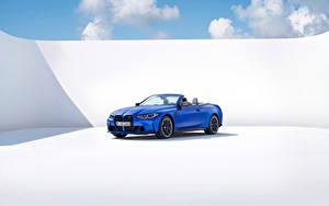 Bilder BMW Blau Metallisch Cabrio M4 Competition M xDrive Cabrio, (Worldwide), (G83), 2021 automobil