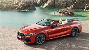 Bilder BMW Cabriolet Rot M8, Competition Cabriolet, 2019 Autos