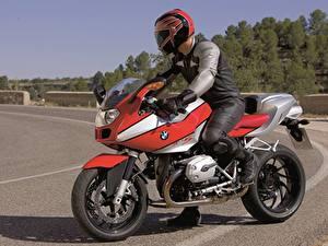 Bilder BMW - Motorrad Motorradfahrer Helm 2004-06 R 1200 S Motorrad