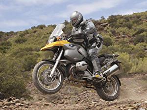 Fotos BMW - Motorrad Motorradfahrer Bewegung Helm 2004-08 R 1200 GS Motorrad
