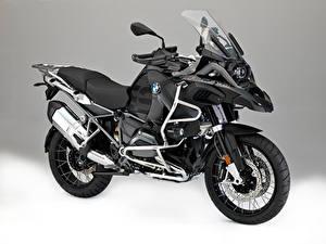 Bilder BMW - Motorrad Grauer Hintergrund 2015-16 R 1200 GS Adventure Motorrad