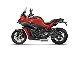 Desktop hintergrundbilder BMW - Motorrad Weißer hintergrund Seitlich 2020 S 1000 XR Carbon Package Motorrad