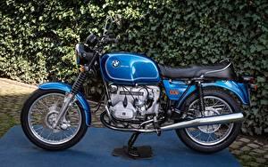 Hintergrundbilder BMW - Motorrad Seitlich Blau R100 7 Motorrad