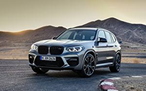 Fotos BMW Gebirge Graue Metallisch Crossover X3M, F97, Competition Autos