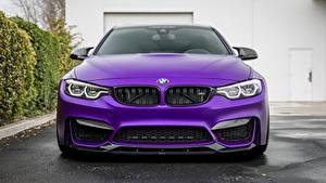Bureaubladachtergronden BMW Vooraanzicht Violet Vorsteiner 2018 GTS F82 M4 Auto