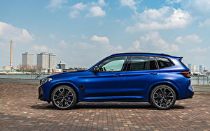 Bilder BMW Crossover Blau Metallisch Seitlich X3 M Competition, (Worldwide), (F97), 2021 automobil