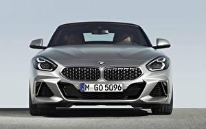 Bureaubladachtergronden BMW Vooraanzicht Zilveren kleur Z4 M40i 2019 G29 Auto