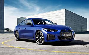 Bilder BMW Blau Metallisch i4 M50, (Worldwide), (G26), 2021 automobil
