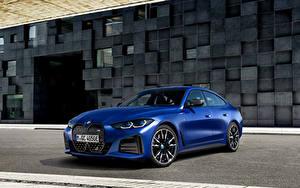 Fotos BMW Blau Metallisch i4 M50, (Worldwide), (G26), 2021 auto