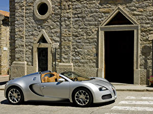 Fotos BUGATTI Silber Farbe Roadster 2009 Veyron 16.4 Grand Sport