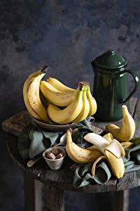 Fotos Bananen Wasserkessel Stillleben Zucker