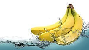 Bilder Bananen Wasser Spritzer