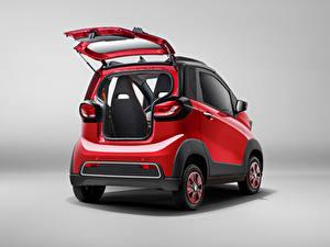 Bilder Baojun Rot Metallisch Hinten Offene Tür Chinesischer E100, 2017 auto