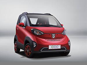 Hintergrundbilder Baojun Rot Metallisch Grauer Hintergrund E100, 2017 automobil