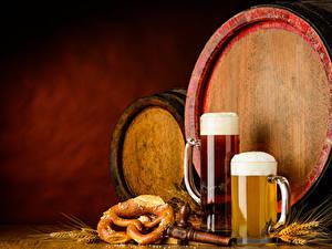 Bilder Fass Bier Becher Schaum Ähren Lebensmittel
