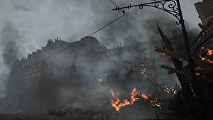 Hintergrundbilder Battlefield 1 Ruinen Feuer Spiele 3D-Grafik