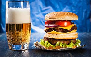 Hintergrundbilder Bier Burger Trinkglas Schaum