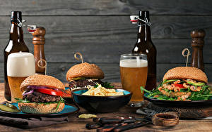 Bilder Bier Hamburger Mauer Flasche Trinkglas Kartoffelchips