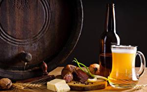 Fotos Bier Wurst Käse Schalenobst Becher Flasche Ähre Lebensmittel