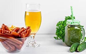 Hintergrundbilder Bier Frankfurter Würstel Gurke Smoothie Weinglas Lebensmittel