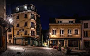 Bilder Belgien Haus Nacht Straßenlaterne Straße Wallonia Städte