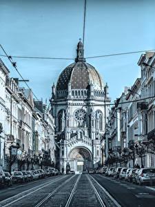 Fotos Belgien Tempel Kirche Wege Stadtstraße Brussels Städte