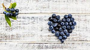 Bilder Beere Heidelbeeren Bretter Herz Lebensmittel