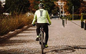 Hintergrundbilder Fahrräder Hinten Rücken Helm